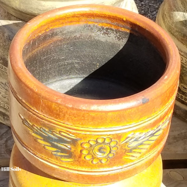 Handmade Pottery imported from Mexico.