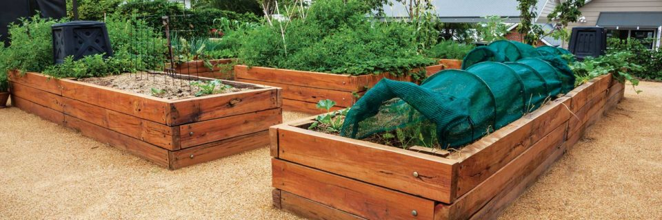 Custom built garden beds